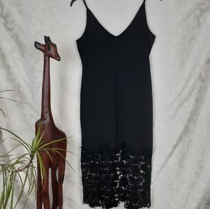Free People slip dress. Black. Sz S
